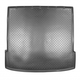 Коврик в багажник Kia Mohave с 2008 по 2021, 5 мест, черный, полиуретан, Норпласт, Цвет ковриков: Черный