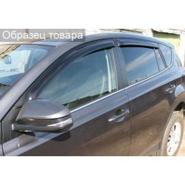 Дефлекторы окон Honda Civic с 2011 по 2016, седан, к-т 4 шт., скотч 3M, черные, акрил, SIM