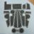 Коврики в ниши Hyundai Creta с 2016 по 2021, черный + белый кант, латекс, Lider арт. KHC-00001516
